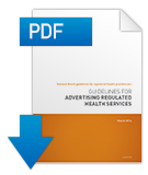 Guidelines for advertising of regulated health services PDF cover.